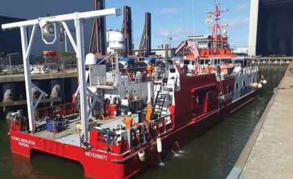 Maintenance and repair for Fugro Mercator at Damen