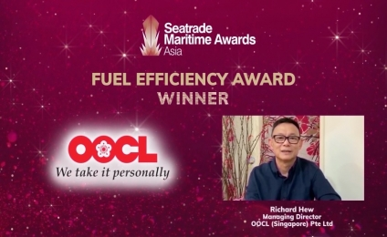 OOCL Takes the Fuel Efficiency Award for Outstanding Environmental Performance