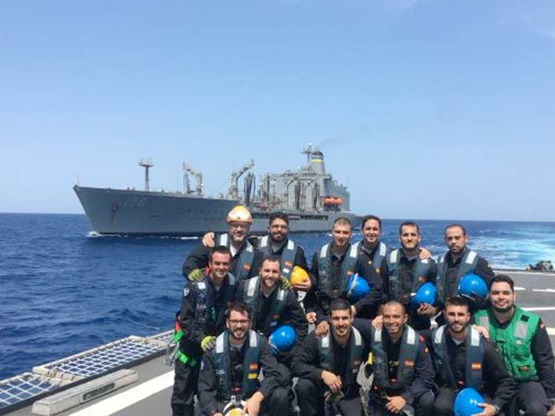 US Navy supports EU NAVFOR with replenishment at sea
