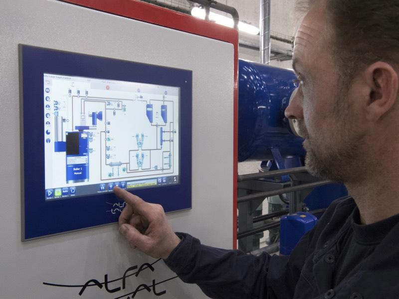 Alfa Laval Touch Control is the new standard of control for marine boilers